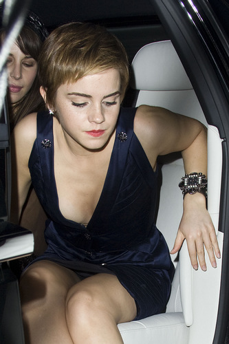 Emma Watson fond d'écran possibly with an automobile called bouvreuil, finch & Partners' Pre-BAFTA Party