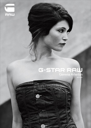 Gemma Arterton वॉलपेपर probably with a कॉकटेल dress and a portrait called G-Star Raw