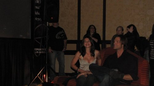 Gen & Jared Padalecki at show, concerto
