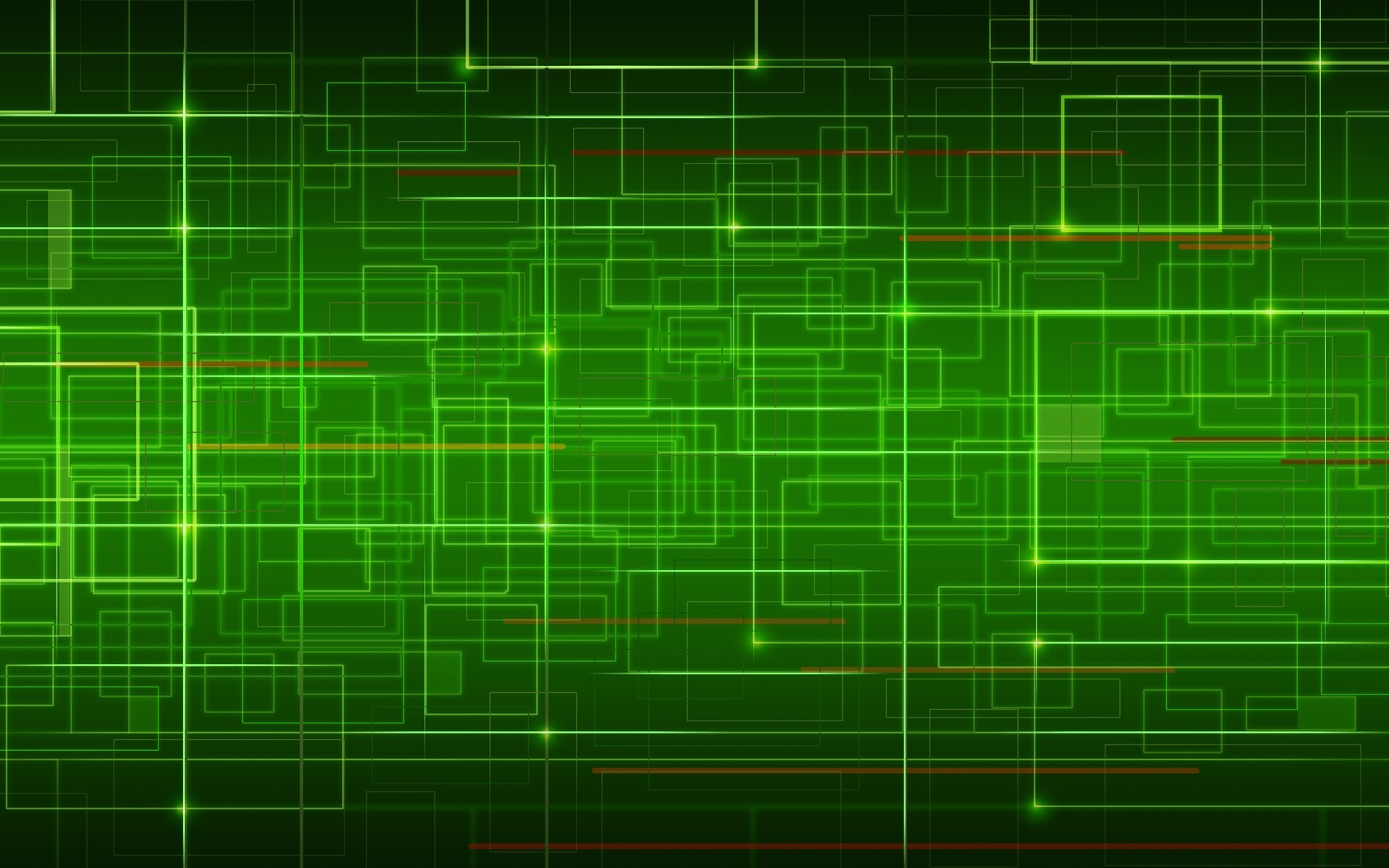 Green green network wallpaper