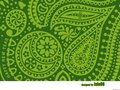 Green Paisley Wallpaper