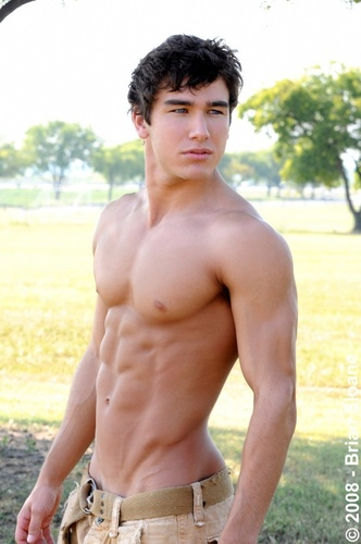 Hottest Actors wallpaper containing a six pack, swimming trunks, and a hunk called Hot Boy