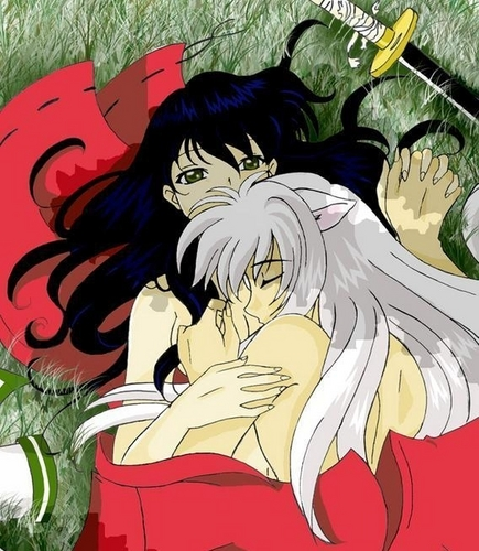 Inuyasha images Inuyasha and Kagome wallpaper and background photos