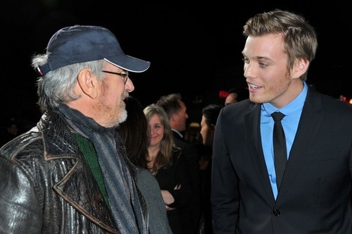 Jake and Steven Spielberg arrive at premiere of IANF