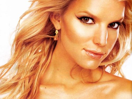 Jessica Simpson wallpaper containing a portrait and skin called Jessica Wallpaper