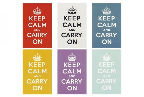 Keep Calm and Carry on postcard set