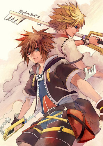 Kingdom Hearts 2 wolpeyper with anime entitled Kingdom Hearts<3