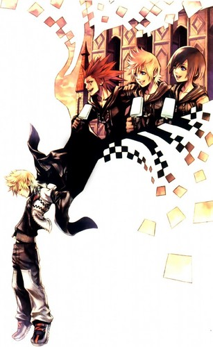 Kingdom Hearts 2 fond d'écran possibly with animé titled Kingdom Hearts<3