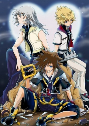 Kingdom Hearts 2 wallpaper probably containing animê entitled Kingdom Hearts<3