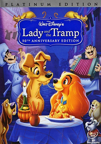 Lady and the Tramp - Two-Disc Platinum Edition 迪士尼 DVD Cover