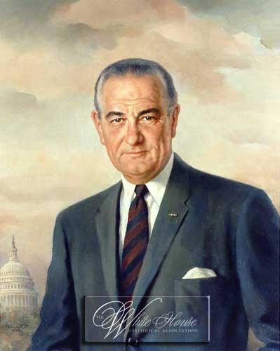 The Presidents of The United States fond d'écran containing a business suit, a suit, and a double breasted suit titled Lyndon Baines Johnson