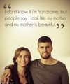 My mother is beautiful - gerard-pique photo