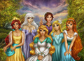 Non-Disney Princesses - childhood-animated-movie-heroines fan art