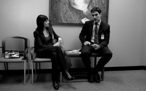 Hotch & Emily wallpaper containing a drawing room, a living room, and a business suit titled Paget&Thomas