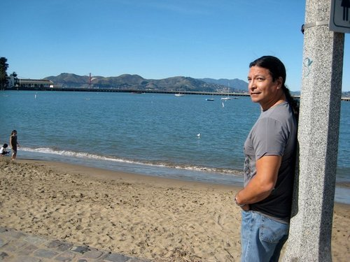 photos of Gil Birmingham with Cast Members in San Francisco