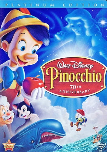 Pinnochio Two-Disc Platinum Edition Disney DVD Cover