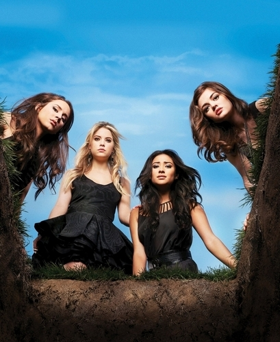 Pretty Little Liars TV دکھائیں پیپر وال possibly with a portrait titled Pretty Little Liars - Season 1 - New Cast Promotional تصویر (HQ)