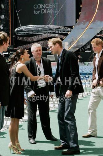 Princes William & Harry At 'Concert for Diana'