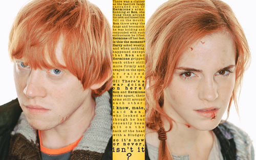 Ron & Hermione キッス Quote