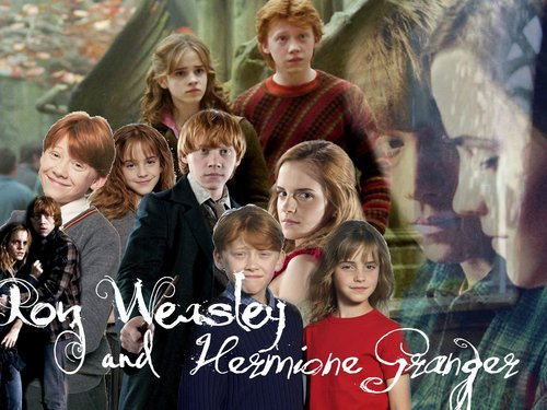 Harry potter images ron and hermione hd wallpaper and - Ron weasley and hermione granger kids ...