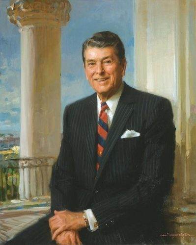 The Presidents of The United States wallpaper with a business suit, a suit, and a three piece suit called Ronald Reagan