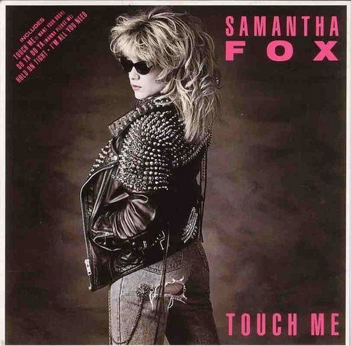 The 80s wallpaper possibly with a hip boot, a breastplate, and a brigandine called Samantha Fox!!