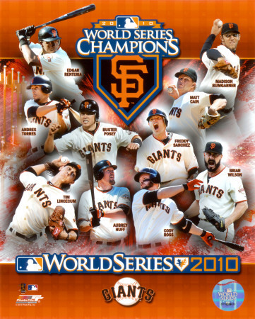 San Francisco Giants the 2010 World Series Champions!