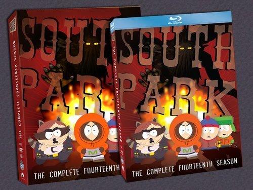 সাউথ পার্ক দেওয়ালপত্র probably containing জীবন্ত entitled Season 14 DVD Cover