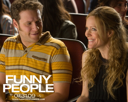 Seth Rogen & Leslie Mann in Funny People