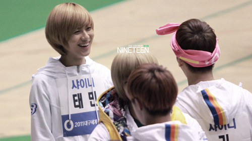 Taemin Recording MBC Idol Athletics Championship New año Special 110123