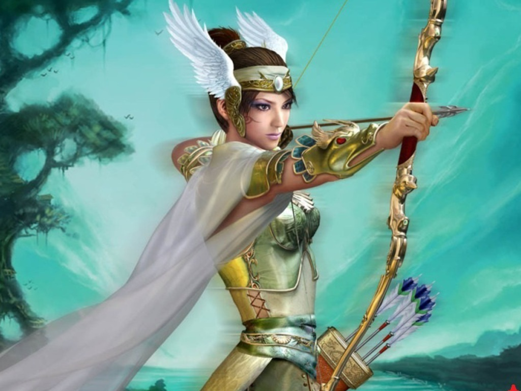 Women with Bow and Arrow