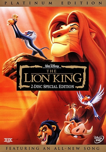 The Lion King - Two-Disc Platinum Edition Disney DVD Cover
