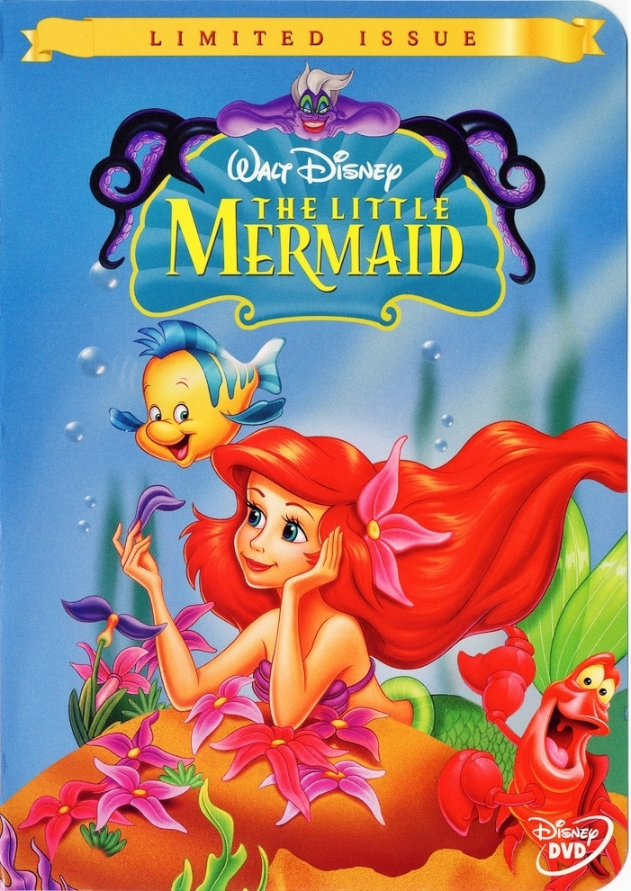 The Little Mermaid - Limited Issue Disney DVD Cover - Walt ...