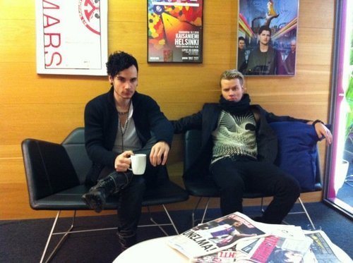 Theon and Vivian at The Voice Finland radio channel