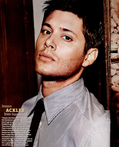 Winchester's Journal achtergrond probably with a business suit called Unknown Shoot - Jensen Ackles 11