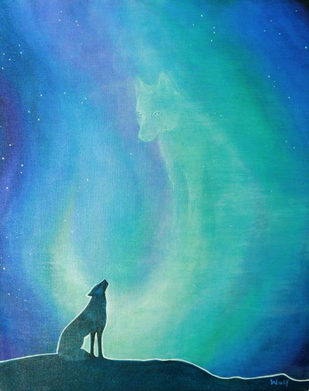 wolf sillouehette II