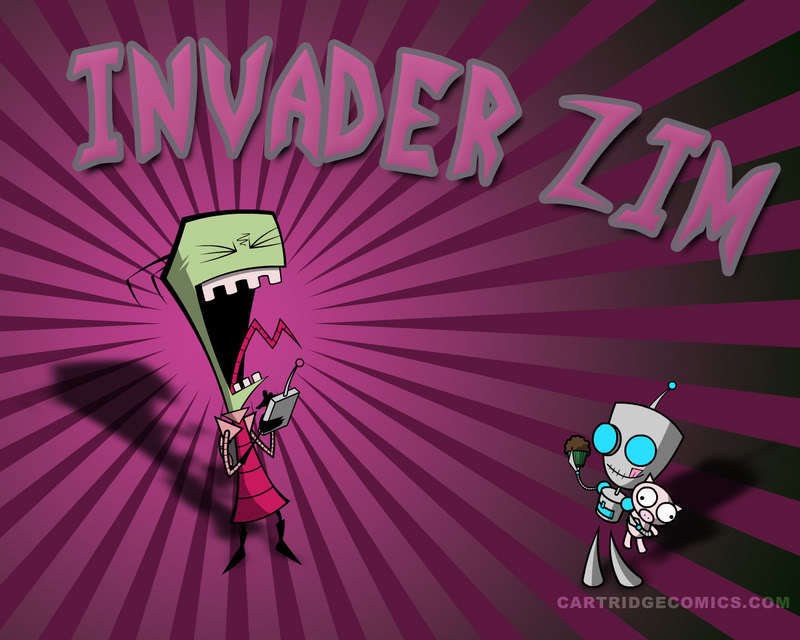 invader zim wallpaper. Zim and Gir wallpaper