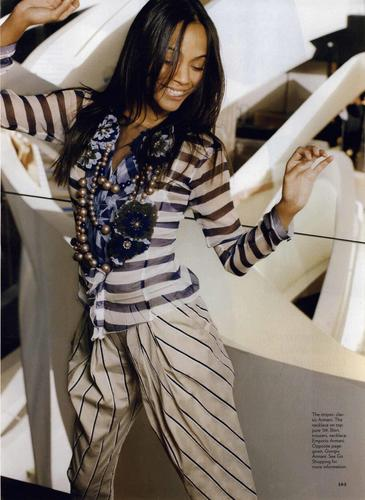 Zoe featured in Glamour Giorgio Armani Editorial June 2009