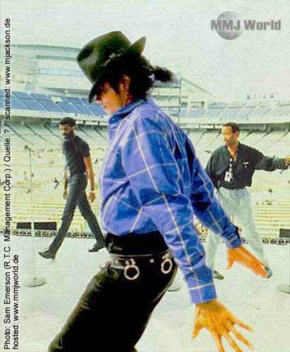 bad tour rehearsals