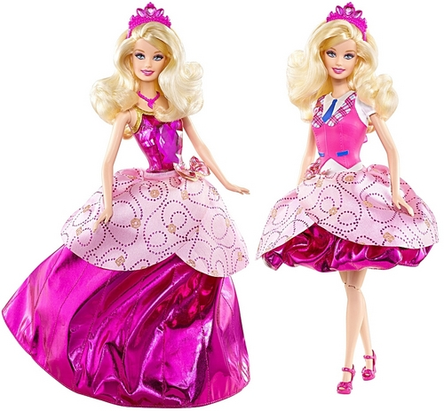 Sinema za Barbie karatasi la kupamba ukuta entitled barbie princess charm school