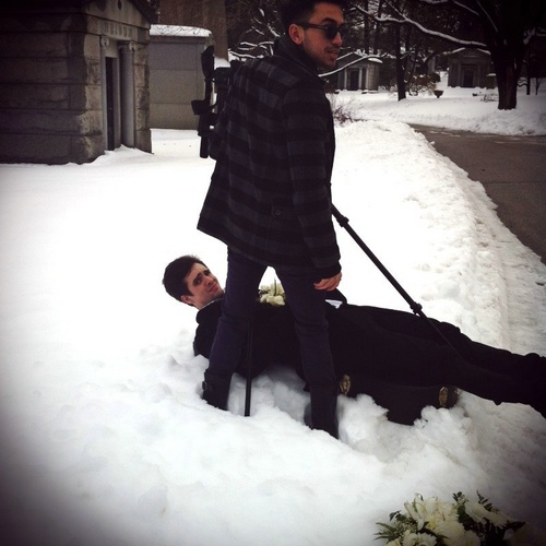brendon in the snow