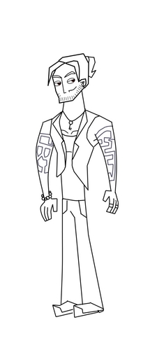 Total drama courtney free coloring pages for Total drama action coloring pages