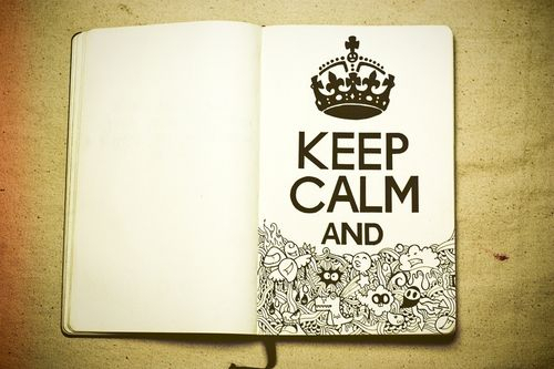 keep calm and have a note book