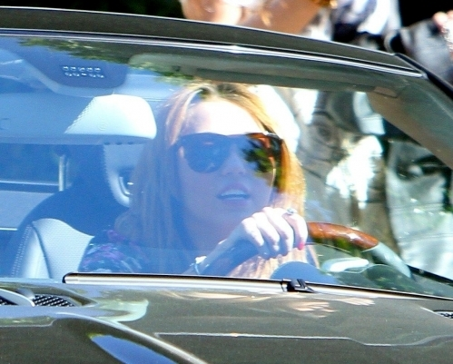 miley driving