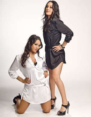 The Bella Twins Hintergrund containing bare legs, a chemise, and a playsuit, spielanzug titled the bellas rocks