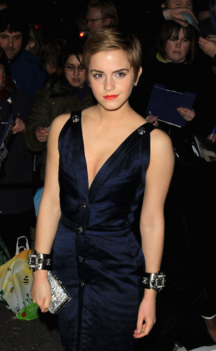 untagged HQ Emma Watson @ finch & Partners' pre-BAFTA party