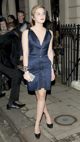 untagged HQ Emma Watson @ fringuello & Partners' pre-BAFTA party