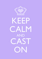 ...cast on