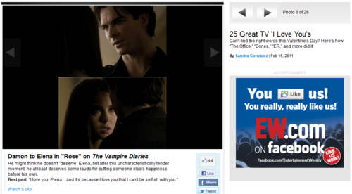 25 Great TV 'I Love You's - damon-and-elena Fan Art