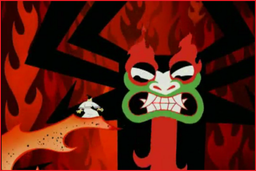 Samurai Jack Hintergrund possibly with Anime entitled AKU!